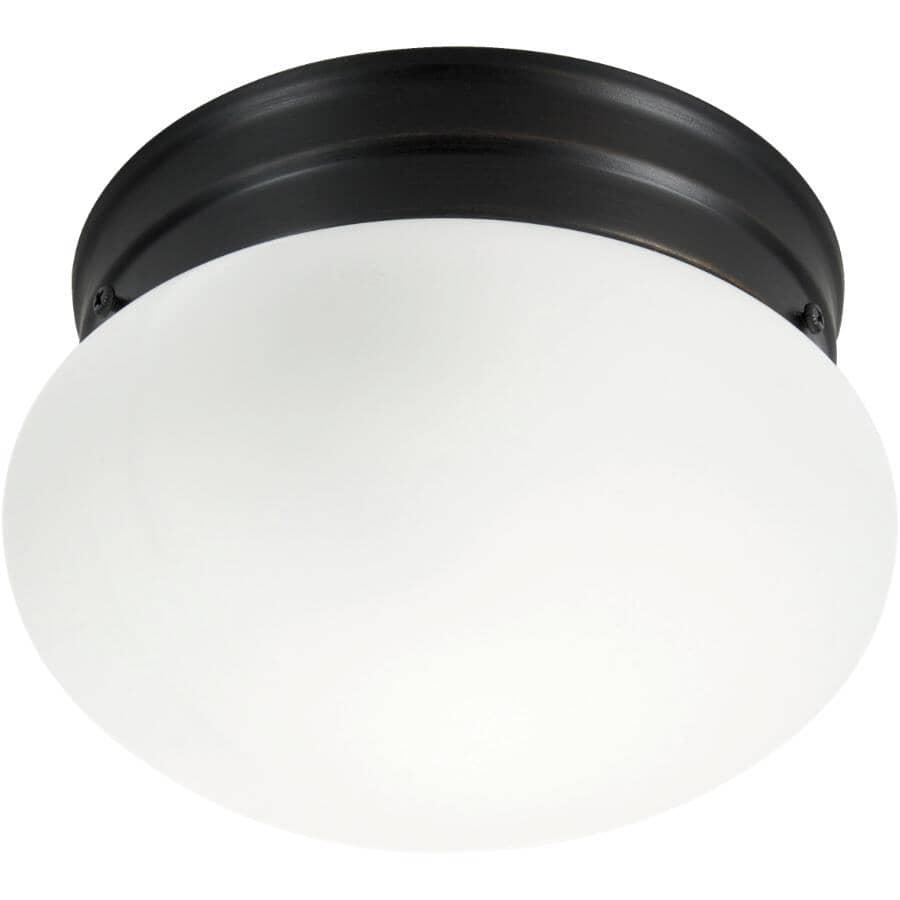 "GALAXY:8"" Oil Rubbed Bronze Mushroom Flush Light Fixture"