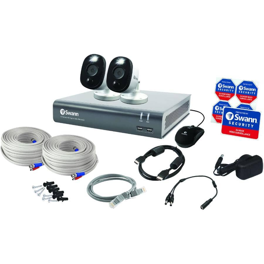 SWANN:Two Camera Security System - with 1 TB DVR