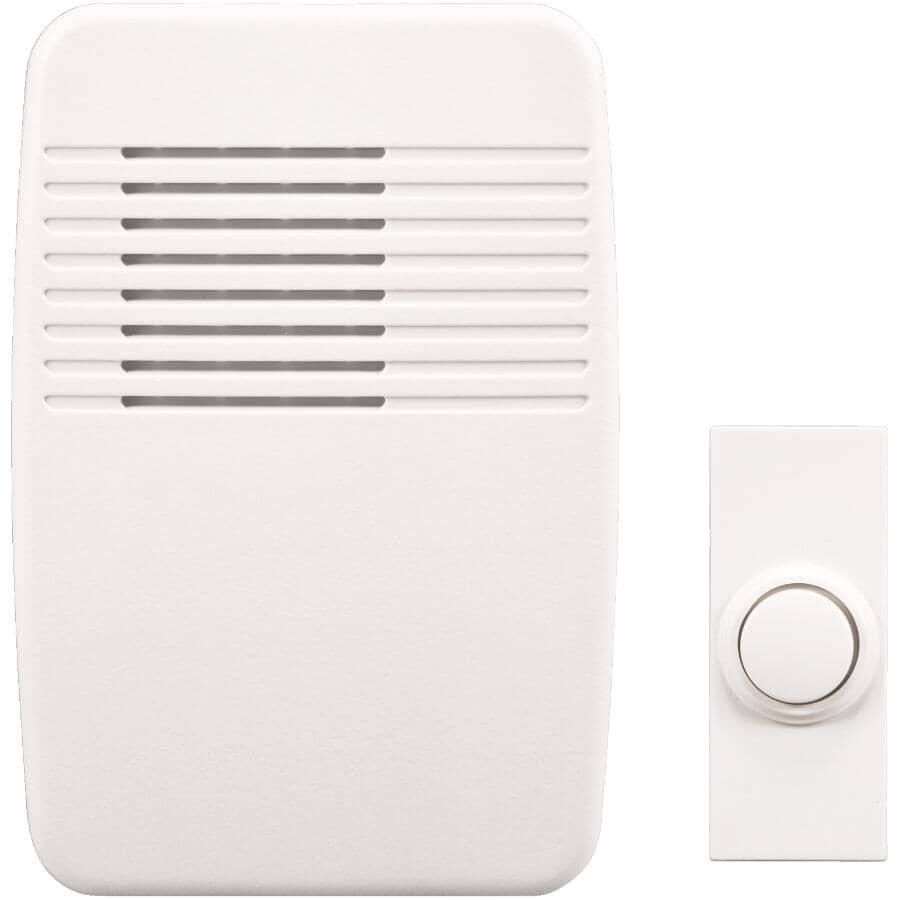 HEATH/ZENITH:Wireless Plug-In Doorbell - with Push Button, White