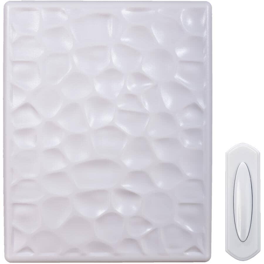 HEATH/ZENITH:Wireless Doorbell - with Push Button, White Hammered Finish