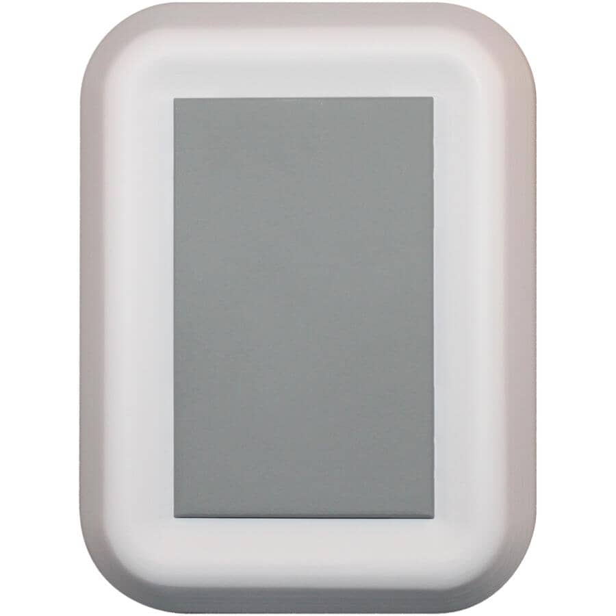 HEATH/ZENITH:Wireless Battery Operated Doorbell - with Push Button, White + Grey