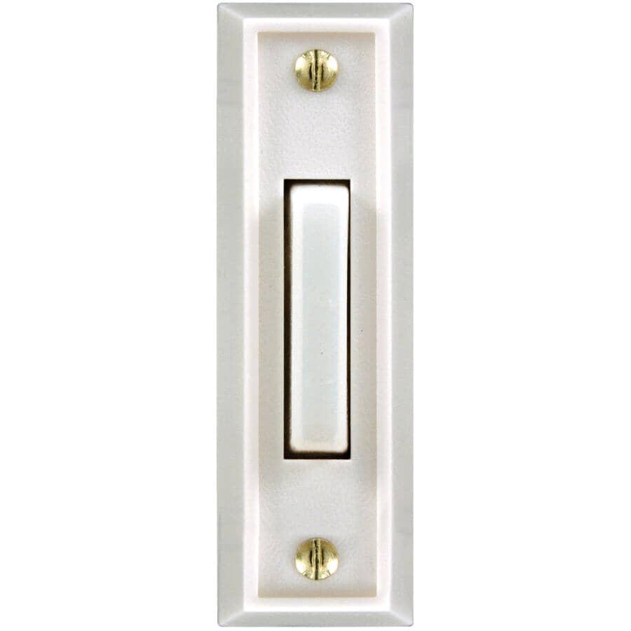 HEATH/ZENITH:Wired LED Push Button Doorbell - Plastic, White