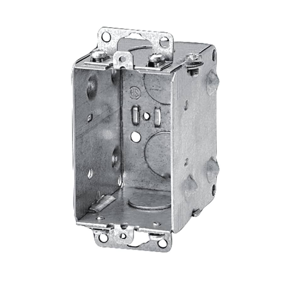 """IBERVILLE:2-1/2"""" Gangable Switch Box with Reverse Mounting Ears"""