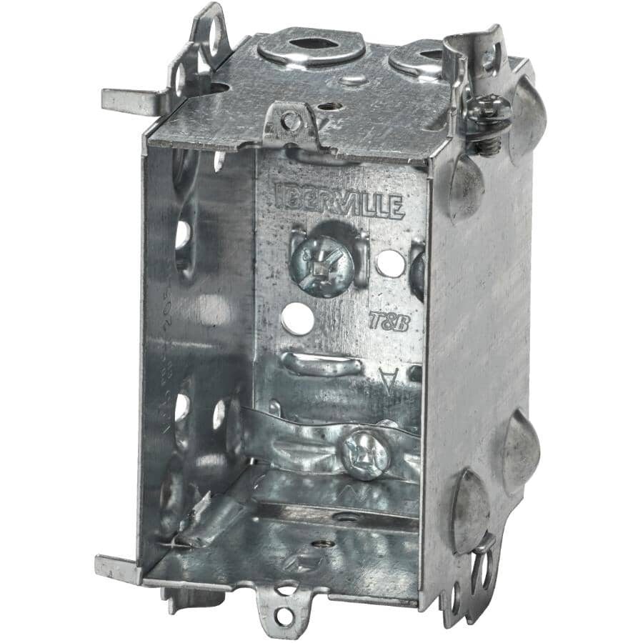 """IBERVILLE:2-1/2"""" Nm90 Standard Interior Gangable Device Boxes - with Extended Sides, 6 Pack"""