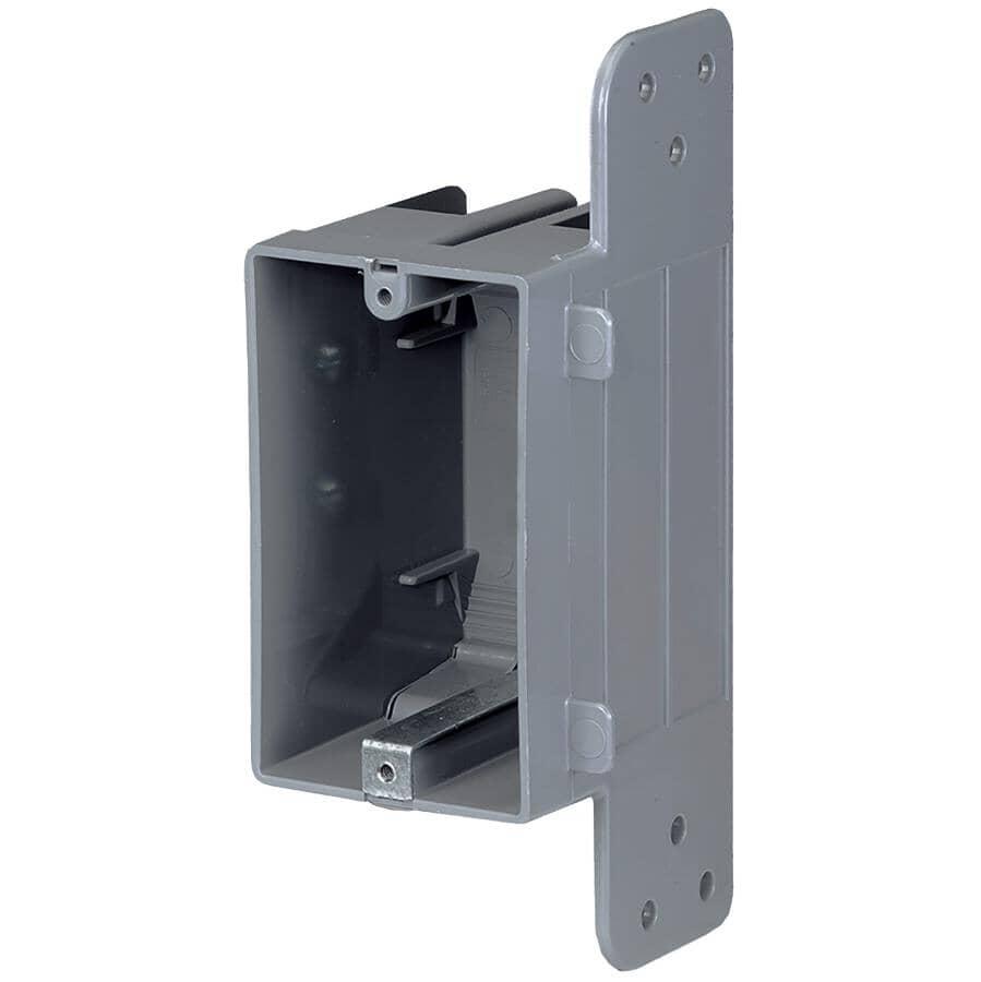 NU TEK:Boîte d'interrupteur ou de prises de 3,75 po x 2,25 po x 2,75 po