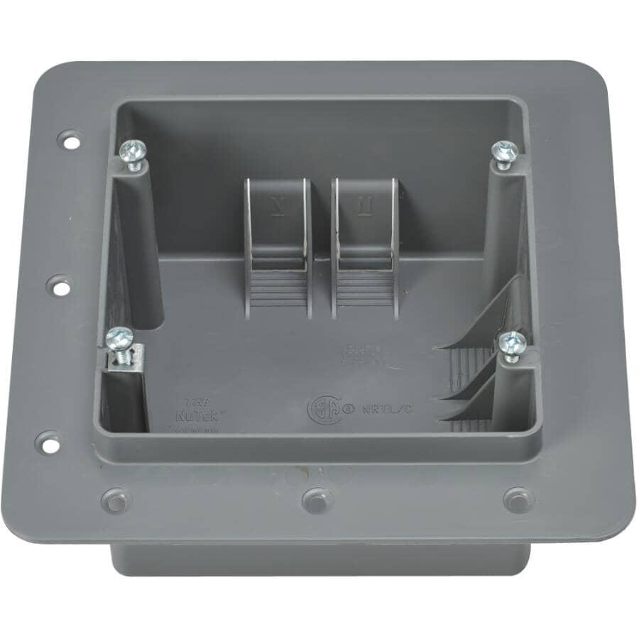NU TEK:Grey Dryer+Stove Wiring Box