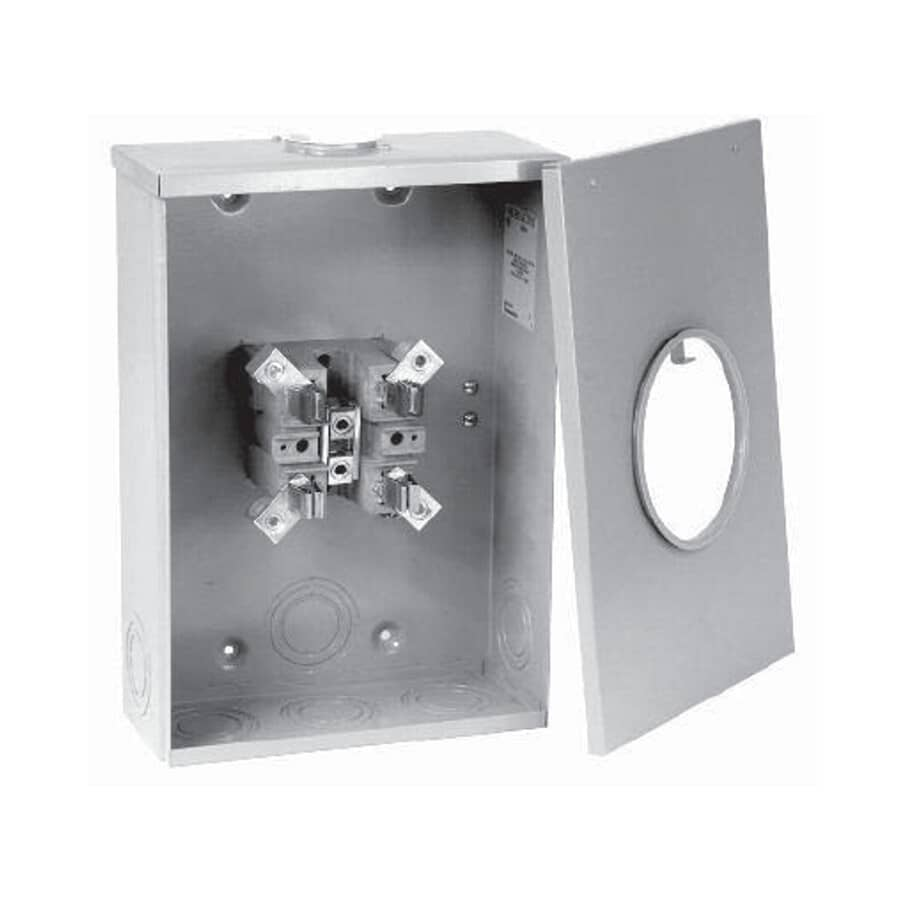 MICROLECTRIC:200 Amp Single Phase Overhead + Underground Meter Socket with Hub Opening