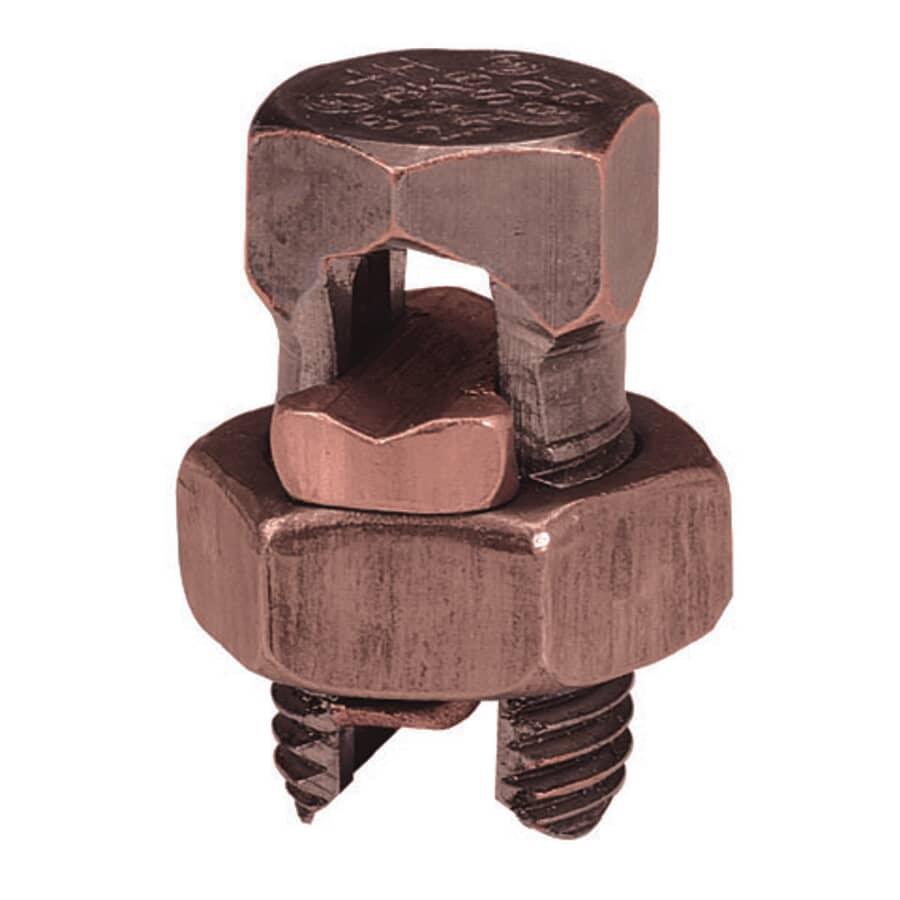 MICROLECTRIC:Connecteur étamé à boulon fendu en bronze, format 4-8