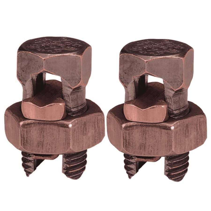 MICROLECTRIC:Paquet de 2 connecteurs étamés à boulons fendus en bronze, format 6-8