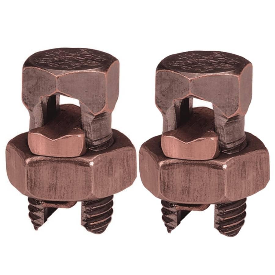 MICROLECTRIC:Paquet de 2 connecteurs étamés à boulons fendus, format 8-10