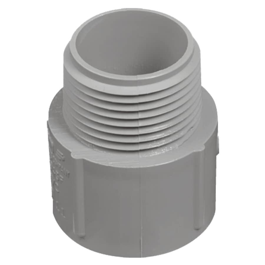 CARLON:Adaptateur mâle en PVC de série 40, 1-1/4 po