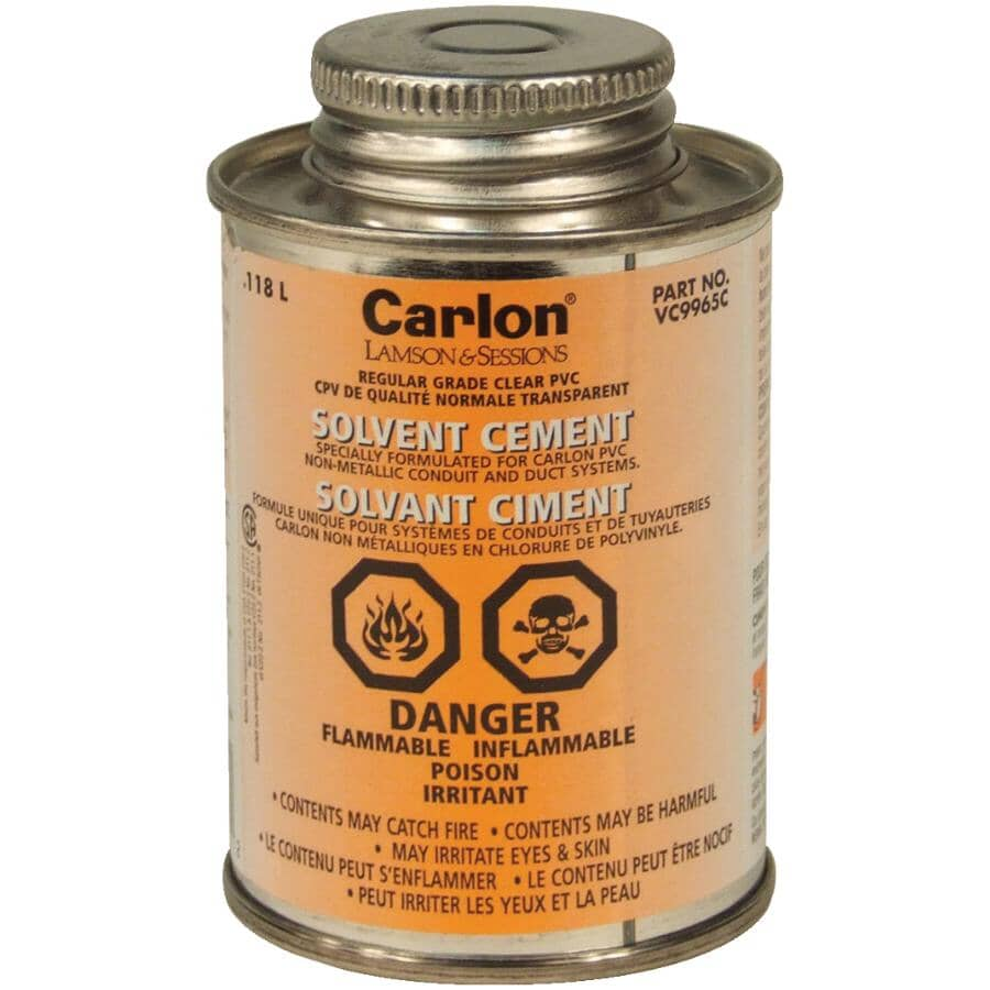 CARLON:Standard Clear Solvent Cement - 118 ml