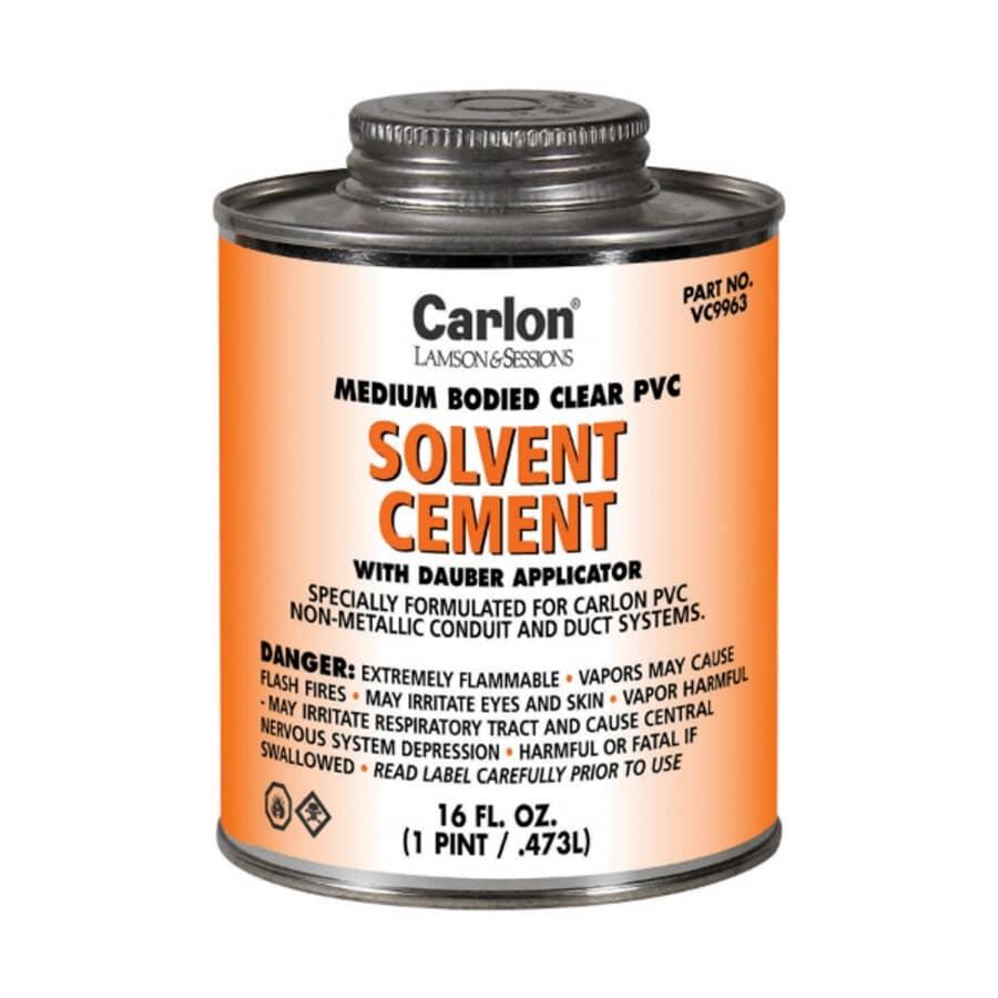 CARLON:Medium-Bodied Clear Solvent Cement - 473 ml