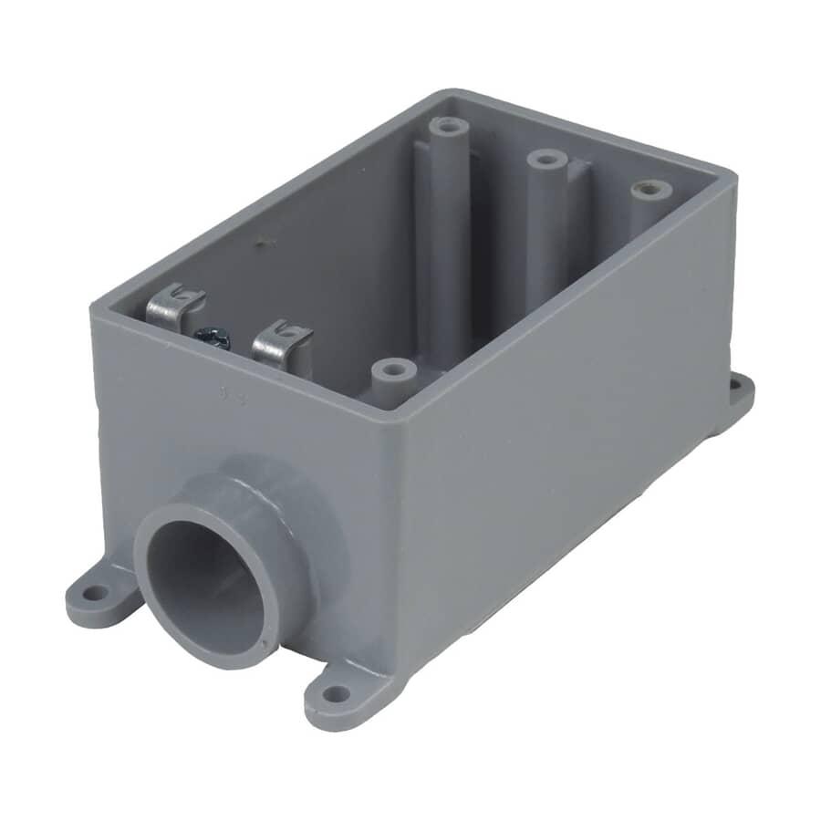 CARLON:Boîte simple groupable FSE en PVC, 3/4 po