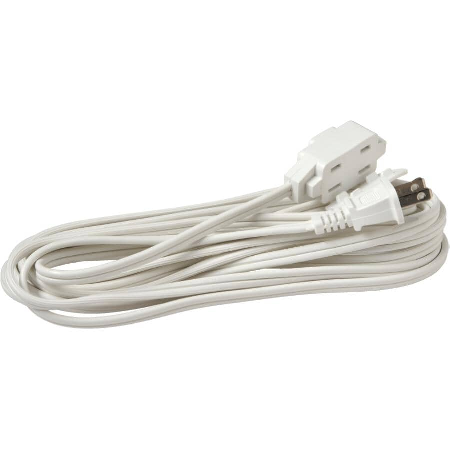 POWER EXTENDER:Indoor Extension Cord - White, 4.5 m