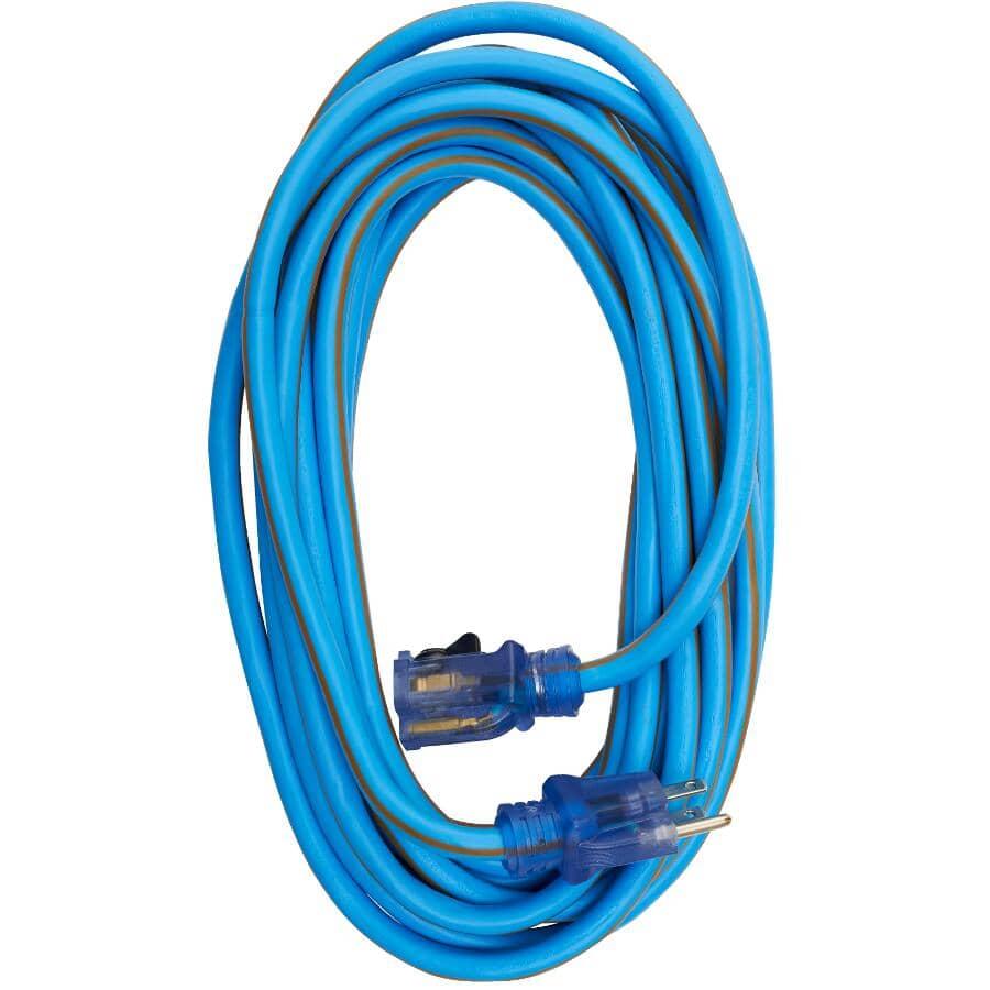 PRIME:25' 1 Outlet SJEWO 12/3 Blue Extension Cord