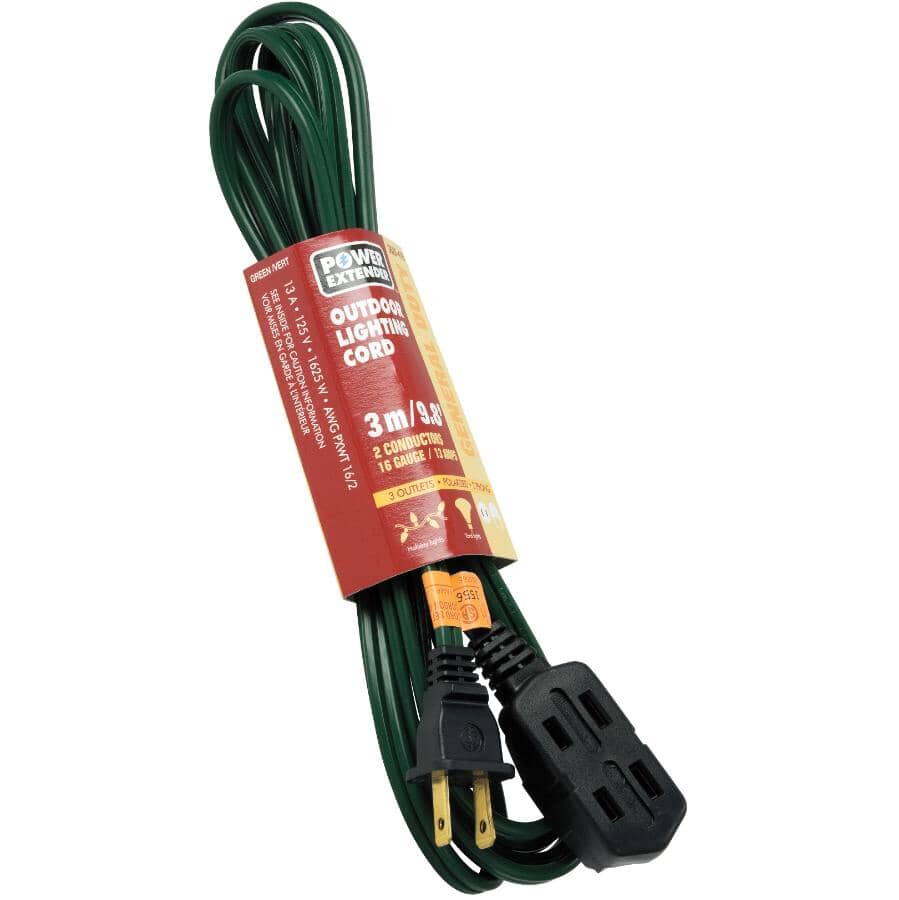 POWER EXTENDER:3M 3 Outlet PXWT 16/2 Extension Cord