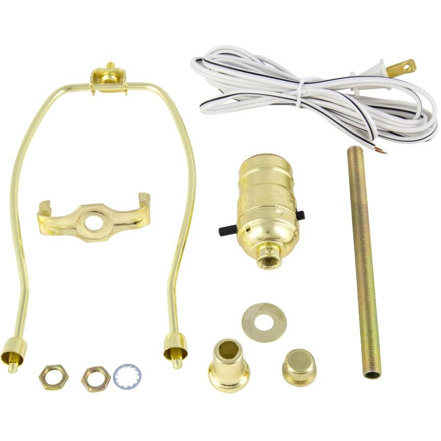 "ETLIN DANIELS:Lamp Kit with 8' Cord and 8"" Harp"