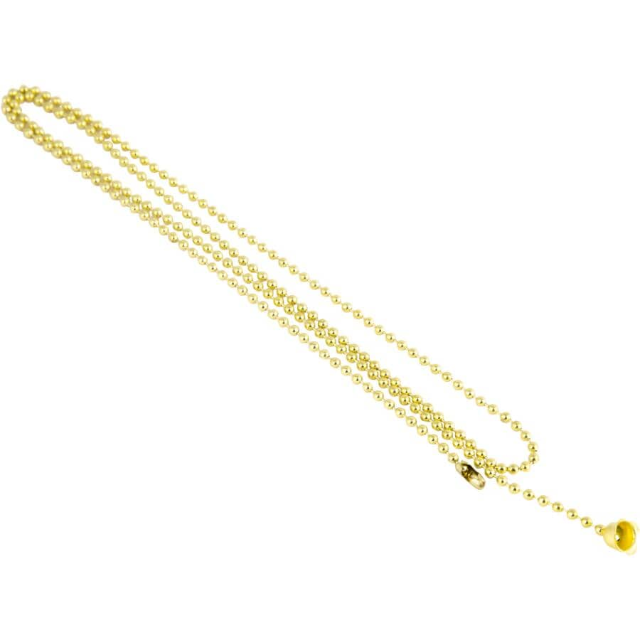 ETLIN DANIELS:3' #6 Brass Ball Chain with Bell