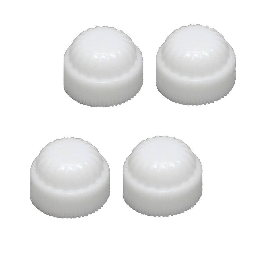 ATRON:Paquet de 4 capuchons en plastique blanc de 1/8 po de grandeur tuyau de fer