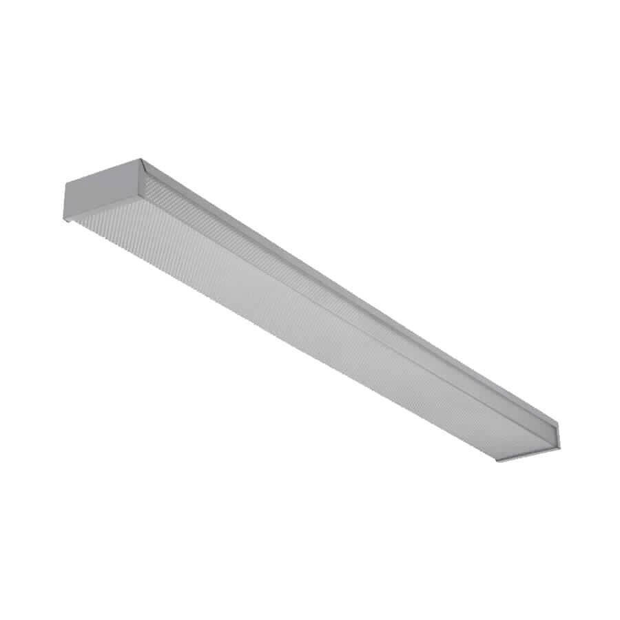 LITHONIA:Luminaire fluorescent T8 à 2 lampes et profil bas avec lentille enveloppante, 24 po