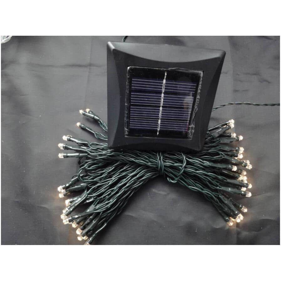 INSTYLE OUTDOOR:150 LED Warm White M5 Solar Light Set, with Green Wire