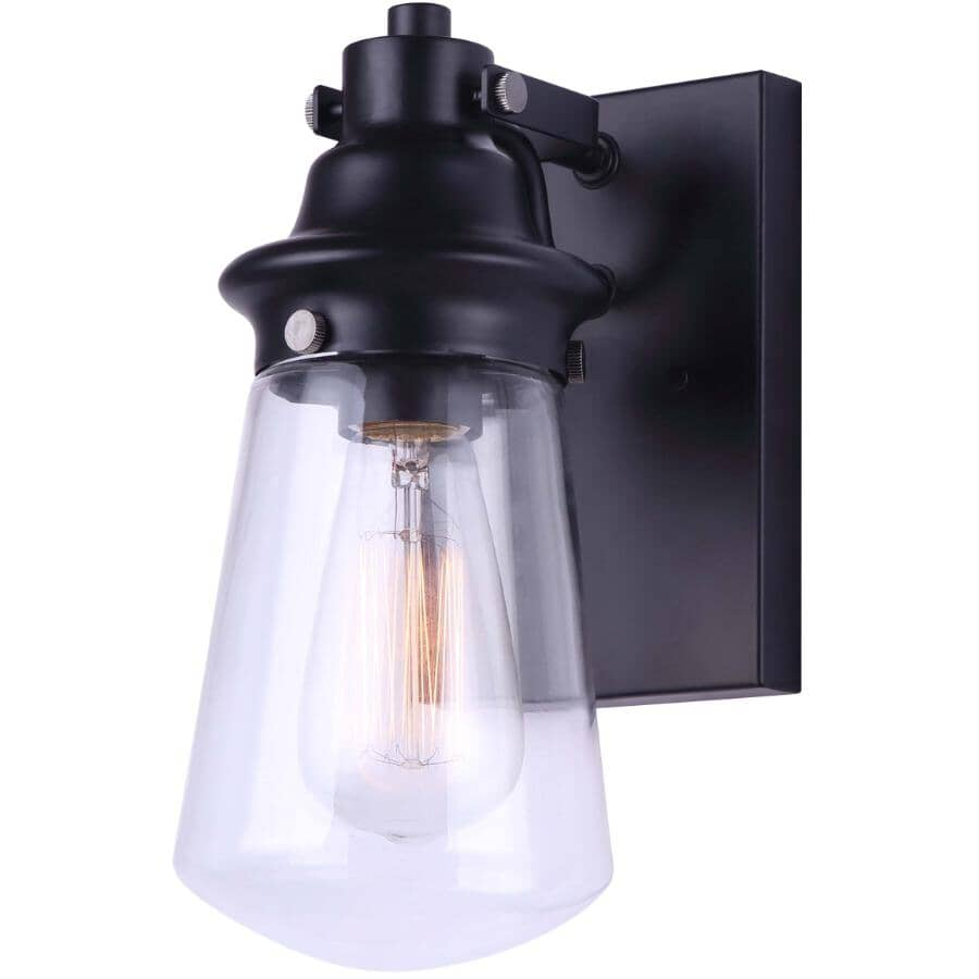 """CANARM:Korber Outdoor Light Fixture - Matte Black, 10.5"""""""