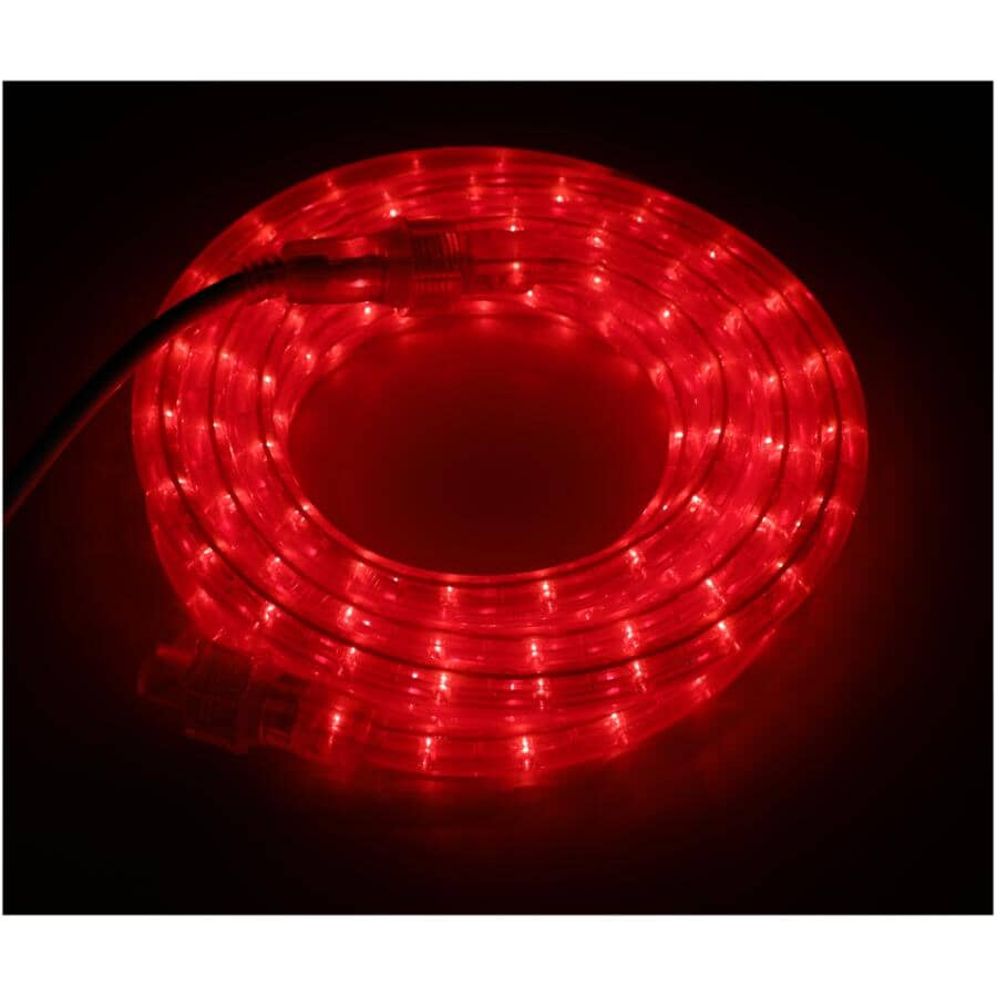 INSTYLE HOLIDAY:15' Red LED Round Ropelight