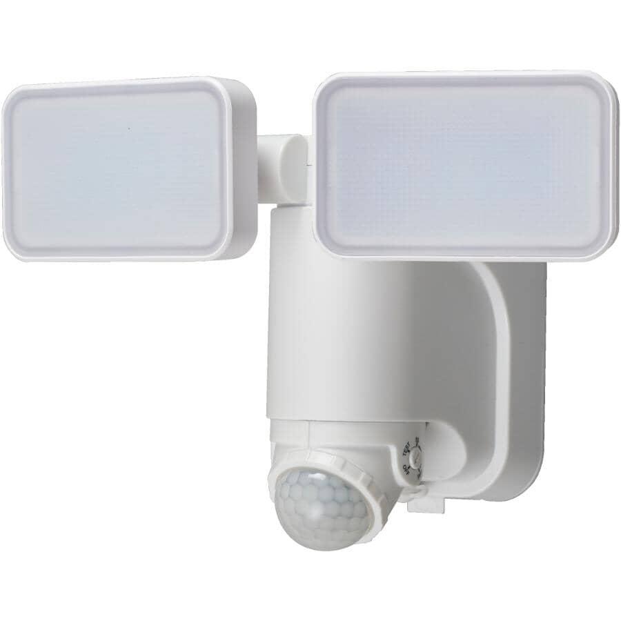 HEATH/ZENITH:White 2 LED Light Solar Powered Motion Detector Security Light