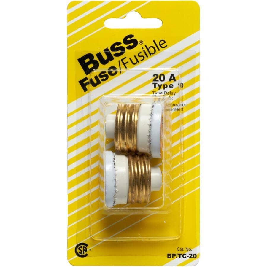 BUSSMANN:2 Pack 20 Amp Time Delay Fuses