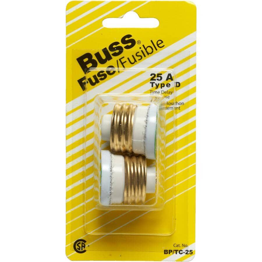 BUSSMANN:2 Pack 25 Amp Time Delay Fuses