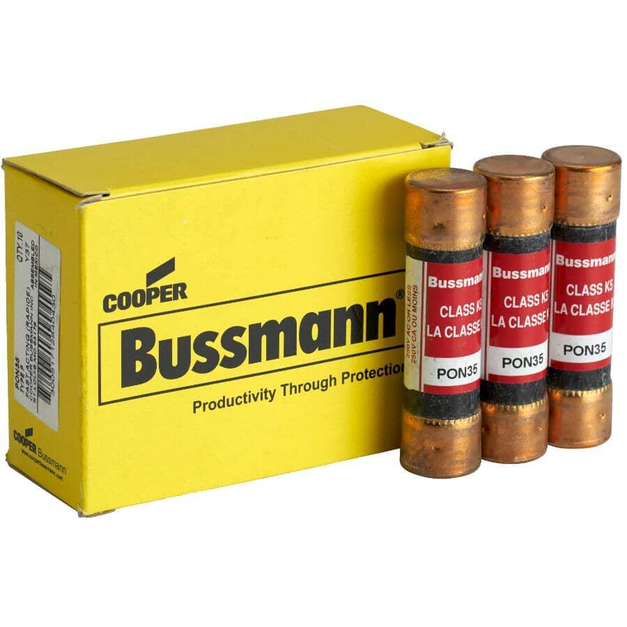 BUSSMANN:Bulk 35 Amp Cartridge P Fuse