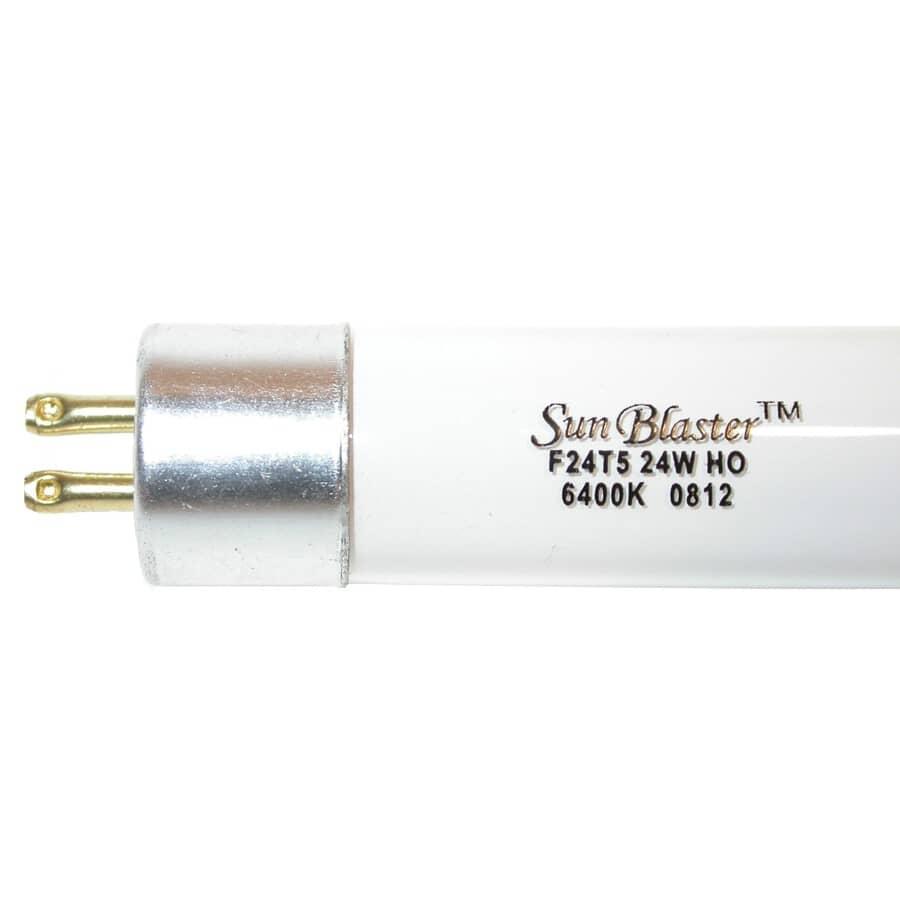 "SUNBLASTER:24W 24"" T5 Mini Bi-Pin 6400K High Output Fluorescent Plant Light Bulb"