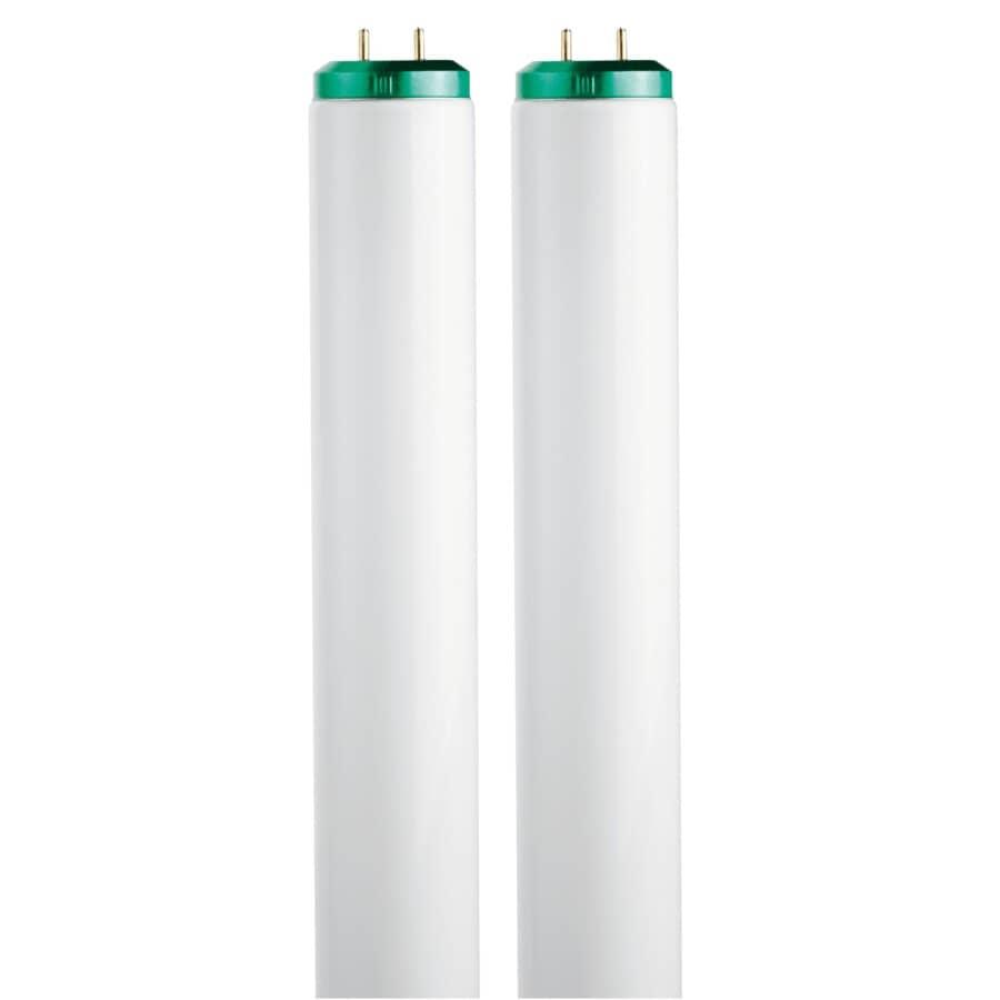 "PHILIPS:40W T12 Bi-Pin Soft White Fluorescent Light Bulbs - 48"", 2 Pack"