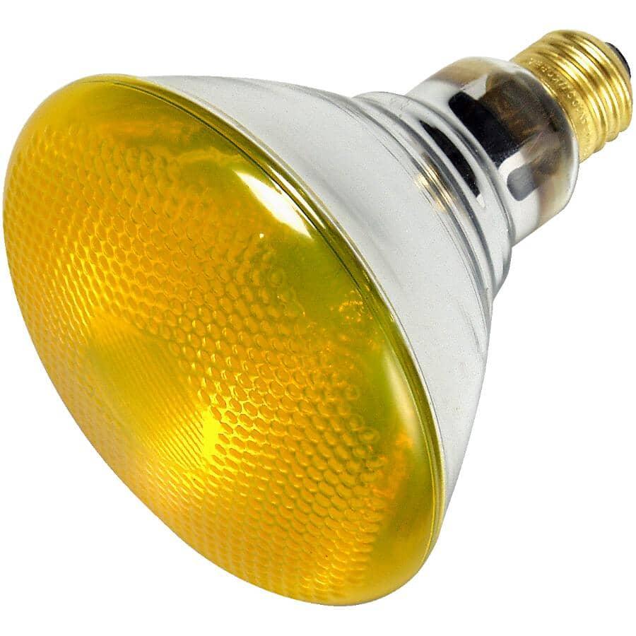 REACTOR:Ampoule PAR38 de 100 W à faisceau large à culot moyen pour l'intérieur et l'extérieur, jaune