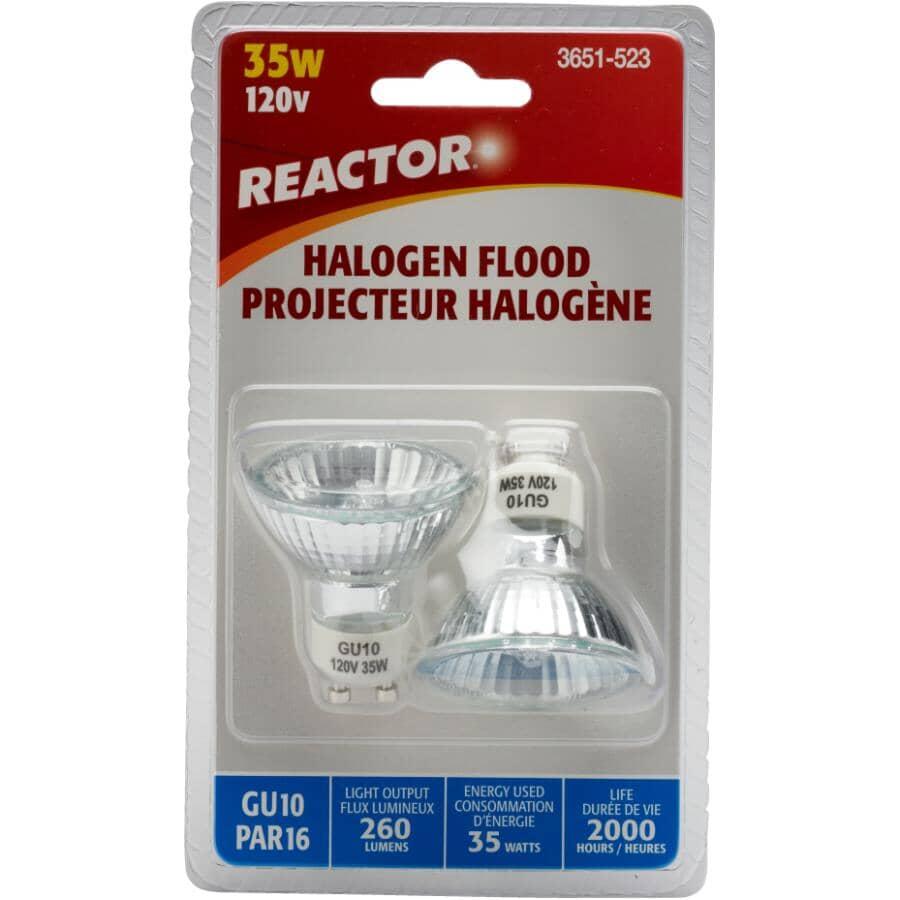 REACTOR:Paquet de 2 ampoules halogène PAR16 de 35 W à culot GU10