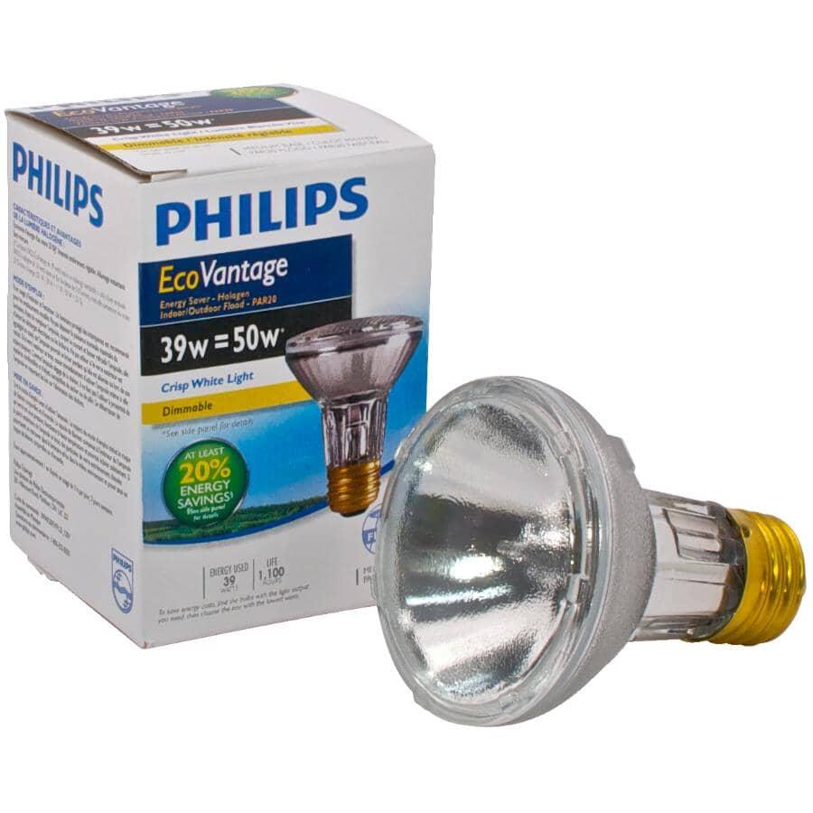 PHILIPS:39W Par20 Medium Base Dimmable Halogen Flood Light Bulb
