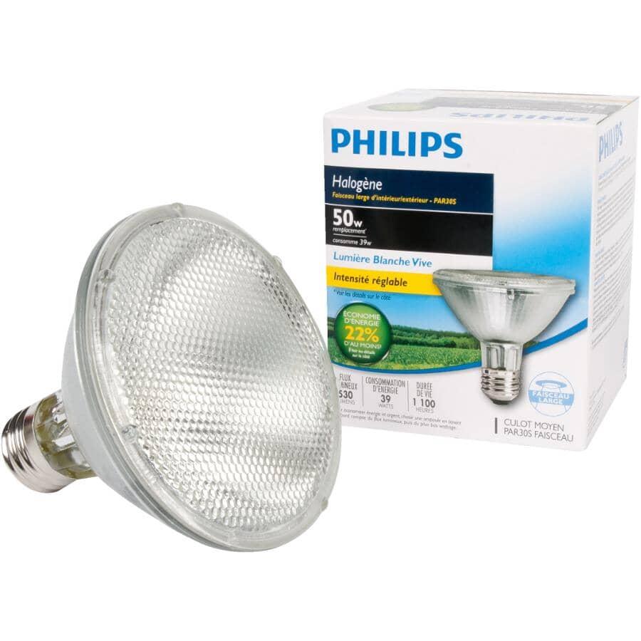 PHILIPS:39W PAR30  Medium Base Dimmable Halogen Short Neck Flood Light Bulb