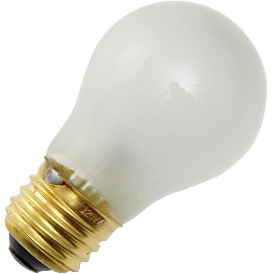 REACTOR:40W A15 Medium Base Inside Frost Appliance Light Bulb