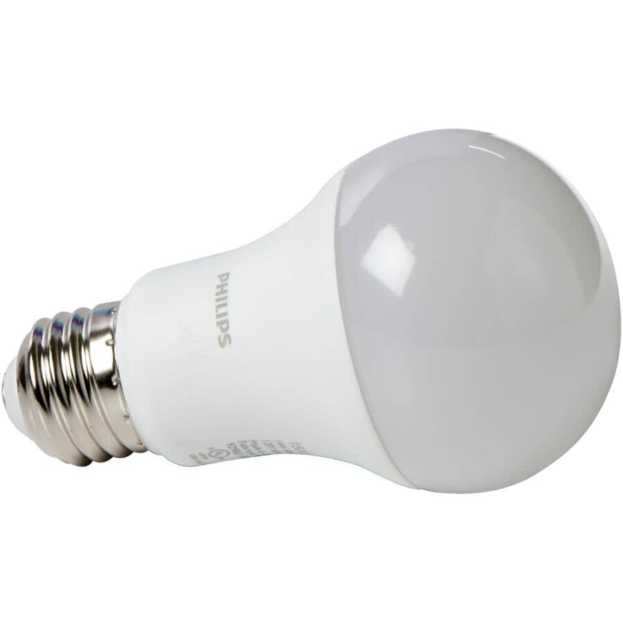 PHILIPS:15W A19 Medium Base Daylight LED Light Bulbs - Non-Dimmable, 2 Pack
