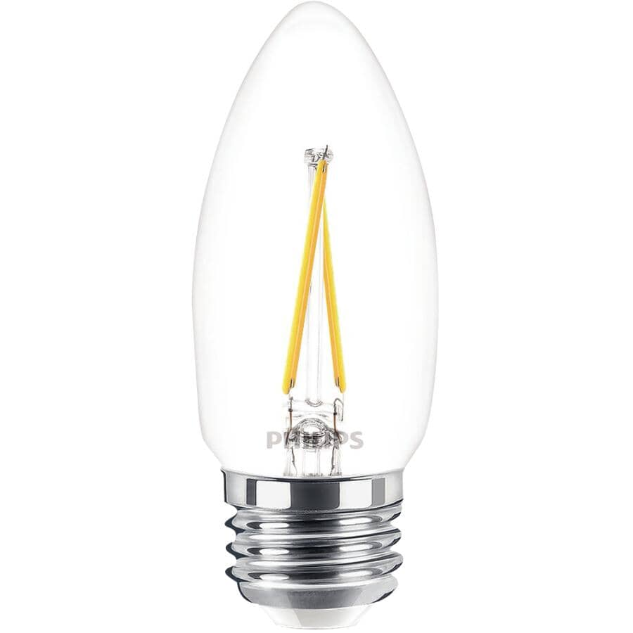 PHILIPS:3 Pack 4.5W B11 Medium Base Daylight Dimmable LED Light Bulbs