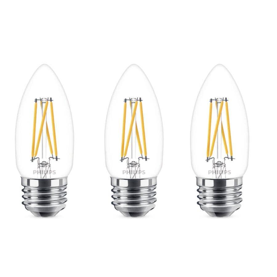 PHILIPS:Medium Base Dimmable LED Light Bulbs - Soft White, 5.5W, 3 Pack