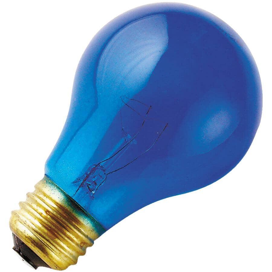 OSRAM SYLVANIA:25W A19 Medium Base Blue Light Bulb