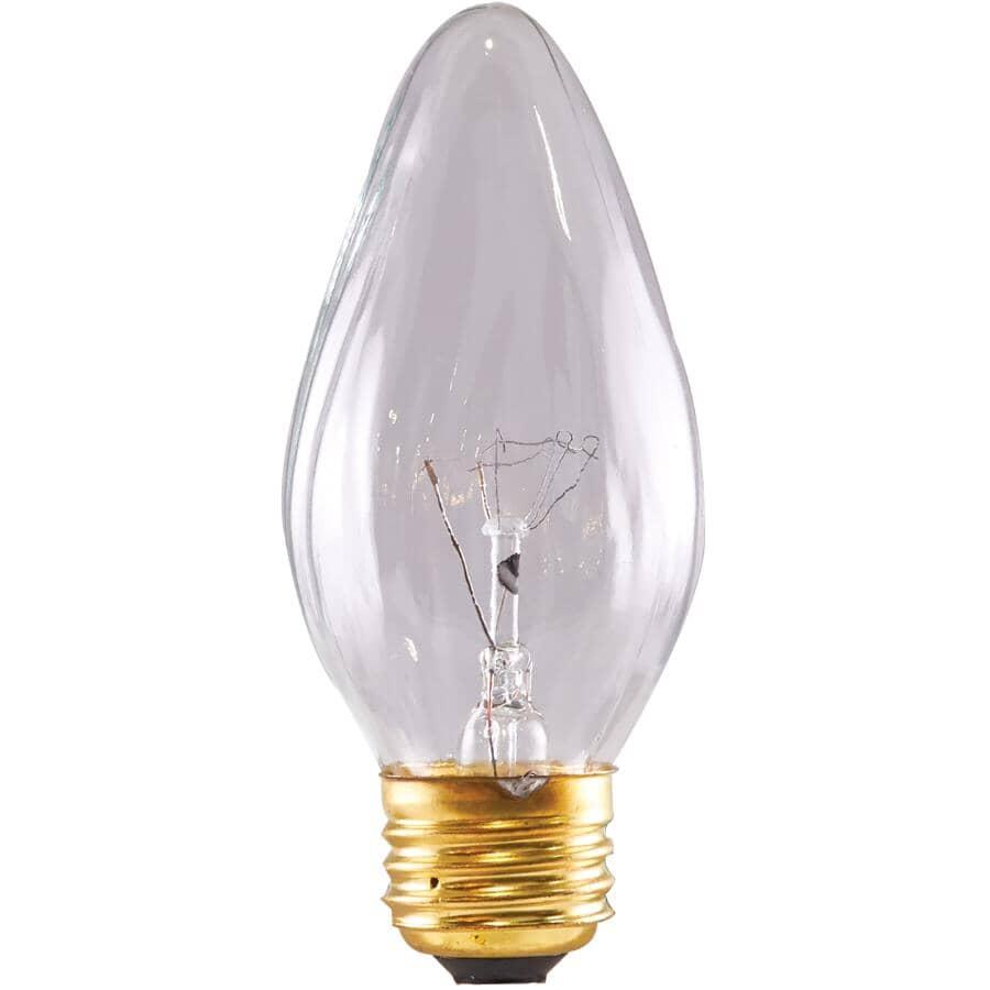 SATCO:40W F15 Medium Base Clear Chandelier Light Bulbs - 2 Pack