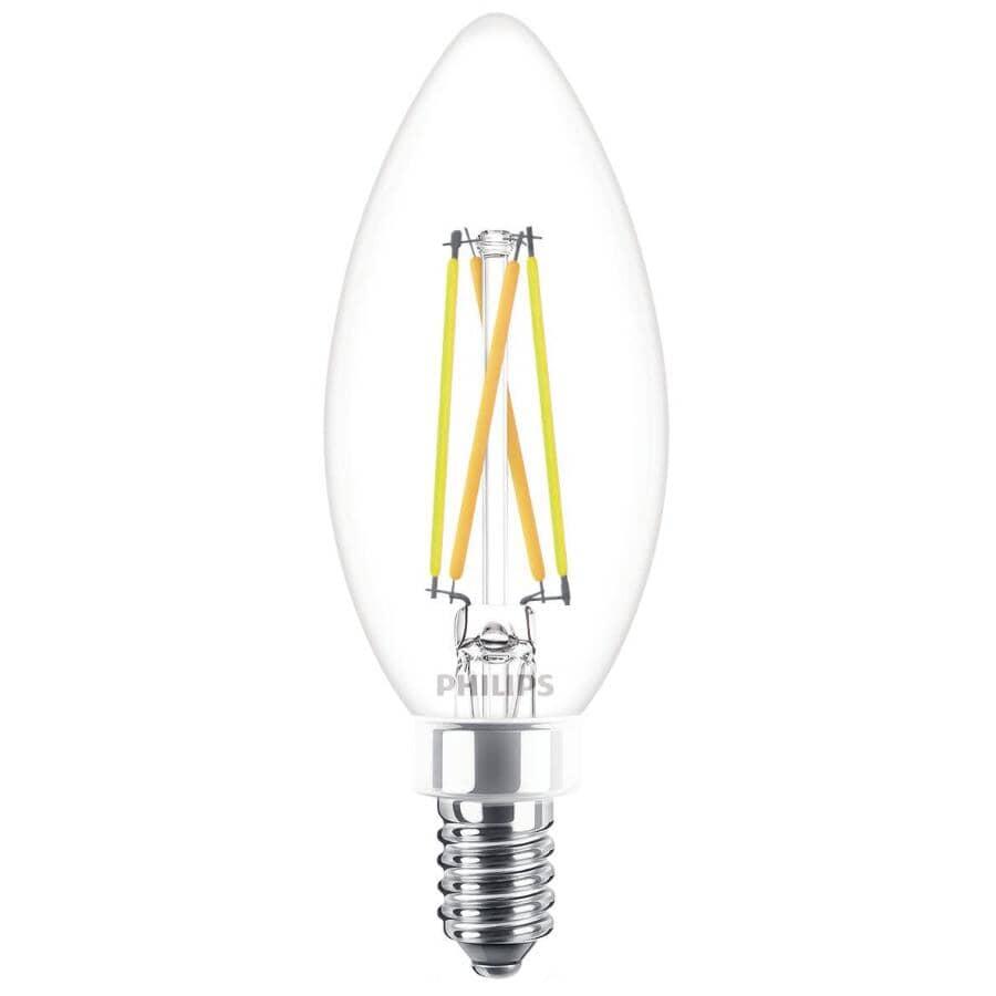 PHILIPS:3 Pack 4W B11 Candelabra Base Soft White Vintage LED Light Bulbs