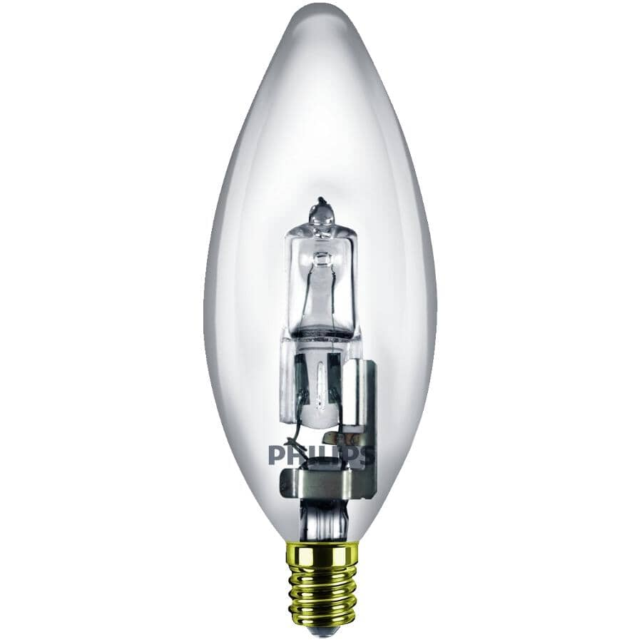 PHILIPS:2 Pack 25W B11 Candelabra Base Clear Dimmable Halogen Light Bulbs