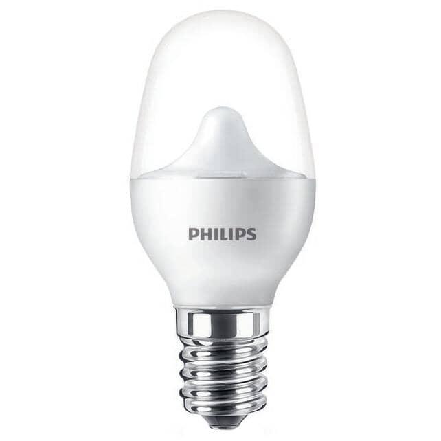 PHILIPS:2 Pack 0.5W C7 Candelabra Base Soft White LED Light Bulbs