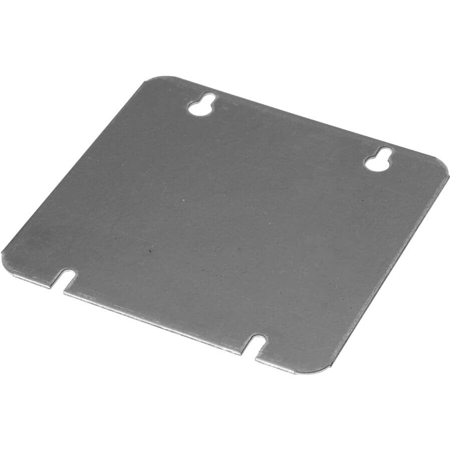 """IBERVILLE:4-11/16"""" Square Flat Blank Receptacle Cover"""