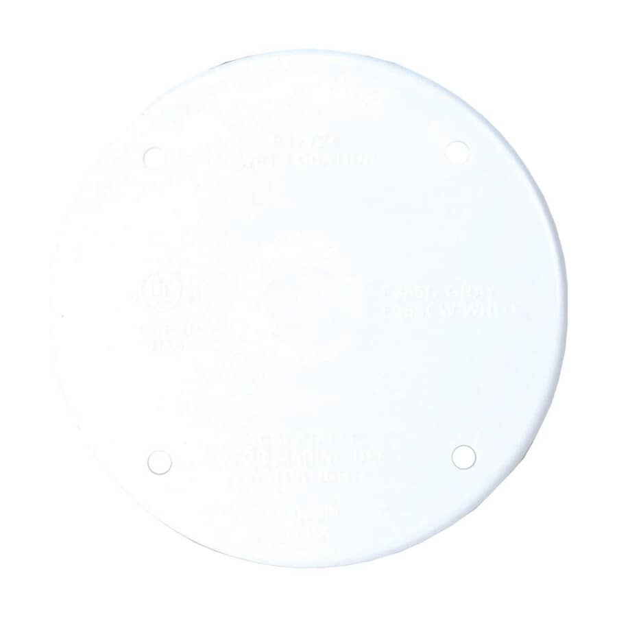 CARLON:White Round Blank Receptacle Cover