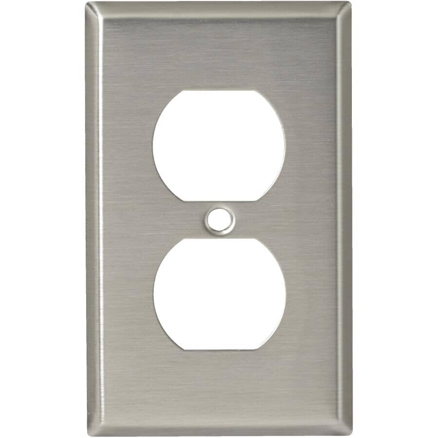 EATON:Stainless Steel Duplex Receptacle Plate